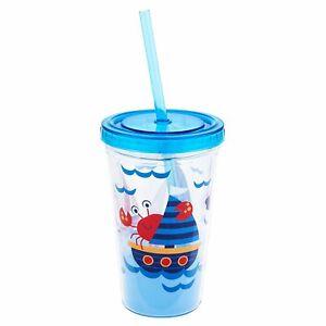 Stephen Joseph E7 Kid's Drinkware Tumbler with Straw - Nautical SJ-1133-46