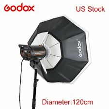"120cm 47"" Godox Octagon Softbox Bowen Mount Bracket Holder Studio Strobe Head"