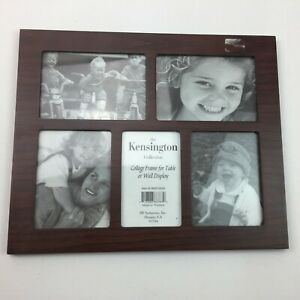 The Kensington Collection Brown Wood Collage Photo Picture Frame Table Wall