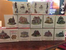 10 Liberty Falls Americana Collection Village Buildings + 2 Accessories Nib