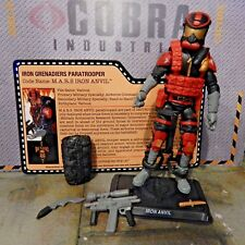 GI JOE ~ 2015 IRON ANVIL GRENADIER ~  TIGER FORCE  joecon ~ DESTROS ELITE