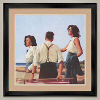 """35W""""x35H"""" YOUNG HEARTS by JACK VETTRIANO - DOUBLE MATTE, GLASS and FRAME"""