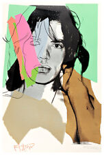 Mick Jagger II A1 by Andy Warhol High Quality Canvas Art Print
