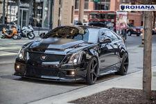 20x9 20x11 +28 Rohana RC22 5x120 Black Wheels Fit Cadillac CTS-V 2012 Staggered