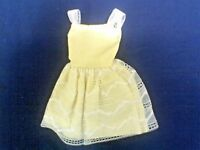 SKIPPER DRESS, Yellow TAGGED.SILKY MATERIAL.OLDER,  VERY GOOD CONDITION.