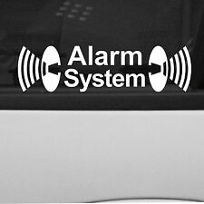 2x Alarm System Sticker Decal Car Truck Bumper Window laptop notebook Door