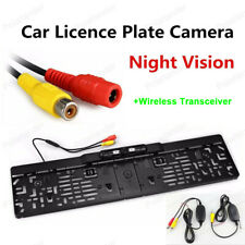 Rearview EU Camera Car License Plate Frame Night Vision Wireless Transceiver