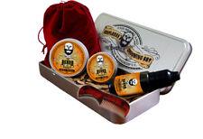 Beard Grooming Gift Set, Mustache Wax,Beard Balm, Oil,Comb - Sweet Orange Scent