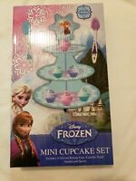 NIB Disney Frozen Mini Cupcake Set Includes 6 Silicone baking Cups, Cupcake...