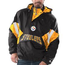 Pittsburgh Steelers Starter VINTAGE ENFORCER Hooded Half-Zip Pullover Jacket e9598b5ef