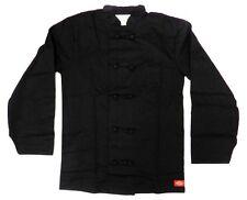 Dickies Chef Coat Jacket Black Cloth Knot Button Cw070304A Uniform Xs New