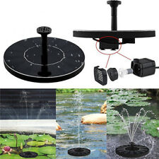 QA_ Floating Solar Powered Pond Garden Water Pump Fountain Pond For Bird Bath