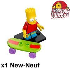 Lego - Figurine Minifig Minifigurine Simpsons série 1 Bart skate skater NEUF