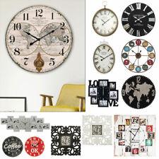 Parete Anzeige Orologio Analogico Tempo Decorazione Motivo Legno Design Sala