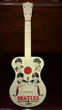 "1964 BEATLE Toy Guitar Selcol Products 23"" Red/White Restoration project Beatles"
