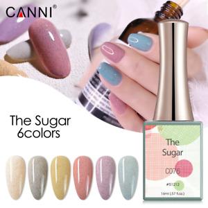 CANNI UV Nail Gel Polish THE SUGAR SERIES Glitter Varnish Soak Off LED 16ML