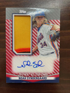2020 Topps Update Noah Syndergaard ALL STAR STITCHES JUMBO PATCH AUTO RELIC /5