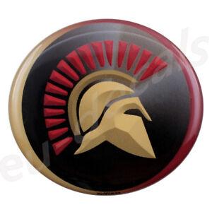 Oval Spartan helmet 70mm 3D Decal sticker Spartan for car truck suv cafe racer