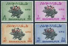Pakistan Bahawalpur O25-O28 2 perf var,MNH.Mi D25-D28 A,C. UPU-75,Official 1949