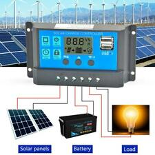 60A 12V 24V Solar Panel Charger Controller Battery Regulator Dual USB LCD DF