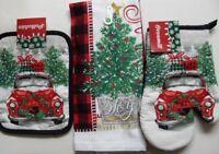 CHRISTMAS HOLIDAY LINEN SET Towel Oven Mitt PotHolder SELECT~SANTA~REINDEER NOEL