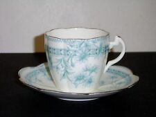 Wileman Foley China England Blue Floral Antique China Cup & Saucer R167737
