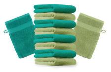 Betz lot de 10 gants de toilette Premium: vert pomme & vert émeraude, 16 x 21 cm