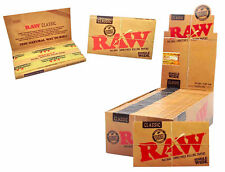 RAW - RAW CLASSIC SINGLE-WIDE ROLLING PAPERS DOUBLE PACK 100 LEAVES PER BOOKLET
