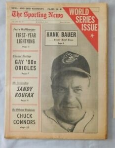 October 8 1966 Sporting News Hank Bauer Baltimore Orioles World Series Issue