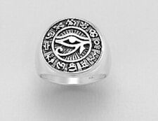 mens ring 925 sterling silver Eye Of Ra Egyptian symbol of protection Large Size