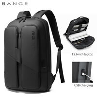 "BANGE Men Backpack Business 15.6"" Laptop Backpacks with USB Charger Waterproof"