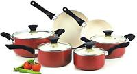 10 piece Cookware set with pan ,pots for cooking  nonstick ceramic ,kitchen