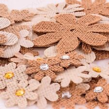Jute Shapes Flower Butterfly Daisy JEWEL Brown White Craft Corner 3 Designs