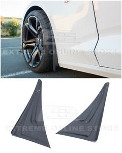For 16-Up Camaro GM Extended Style TEXTURE BLACK Front Splash Guards Mud Flaps