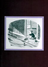 Chas Addams ADDAMS FAMILY - 'LOOKING FOR THAT TRAIN WRECK' MATTED PRINT PUGSLEY