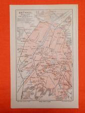 BRÜSSEL St. Gilles Pare Leopold Ixelles Schaerbeck  Stadtplan von 1893