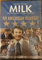 Milk DVD Sean Penn Harvey Milk Story NEW FACTORY SEALED FreeShip