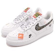 Nike Air Force 1 07 PRM JDI Just Do It White Black Mens Shoes Sneaker AR7719-100