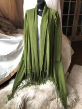 Nordstrom Collection Shawl Collar Long Cashmere Cardigan-pea Green S/M  $399 LUX