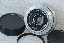 INDUSTAR-50 3.5/50mm+Adapter M39-M42 Silver Russian Pankake Lens USSR