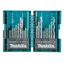 Makita 21 Piece Assorted Metric Drill Tool Bit Accessory Set with Storage Case