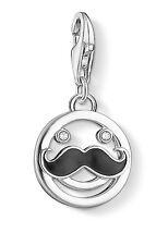 Thomas Sabo 1230-041-14 Charm Anhänger Smiley mit Bart 925 Sterling Silber
