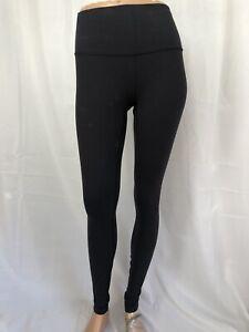LULULEMON size 6 solid black full length leggings pants