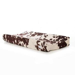 Changing Pad Cover Western Cowboy Baby Nursery Decor Cowhide Brown Gift New