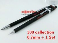 rOtring 300 0.7mm Pencil + Choice 1 Mechanical Pencil Set Black Body [NEW]