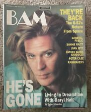 BAM MUSIC MAGAZINE - DARYL HALL - B-52's - JOAN JETT - CASE - Dec 10 1986 #246