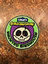 Lowe's Build and Grow Haunted Birdhouse Iron-On Patch