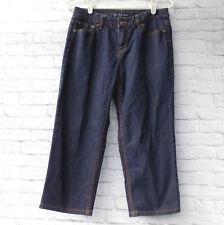 Liz Claiborne Womens Capris Jeans Cropped 29 x 20 SZ 6 Slim Dark Denim Cotton