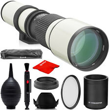 Opteka 500mm/1000mm Telephoto Lens for Canon EF Rebel EOS T8i T8s T8 T7i T7s T7