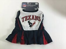 """New listing New Houston Texans Pet Wear Cheerleader Dress Sz M 14"""" to 18"""" Outfit Nfl"""